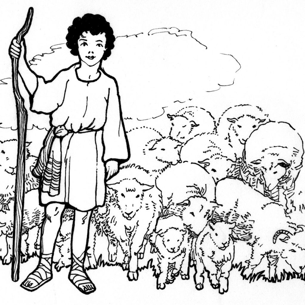 christmas-coloring-pages-shepherds-with-david-the-shepherd-boy