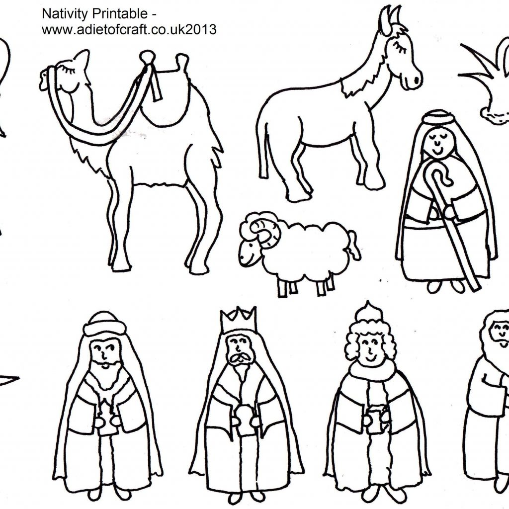 Christmas Coloring Pages Shepherds With Nativity