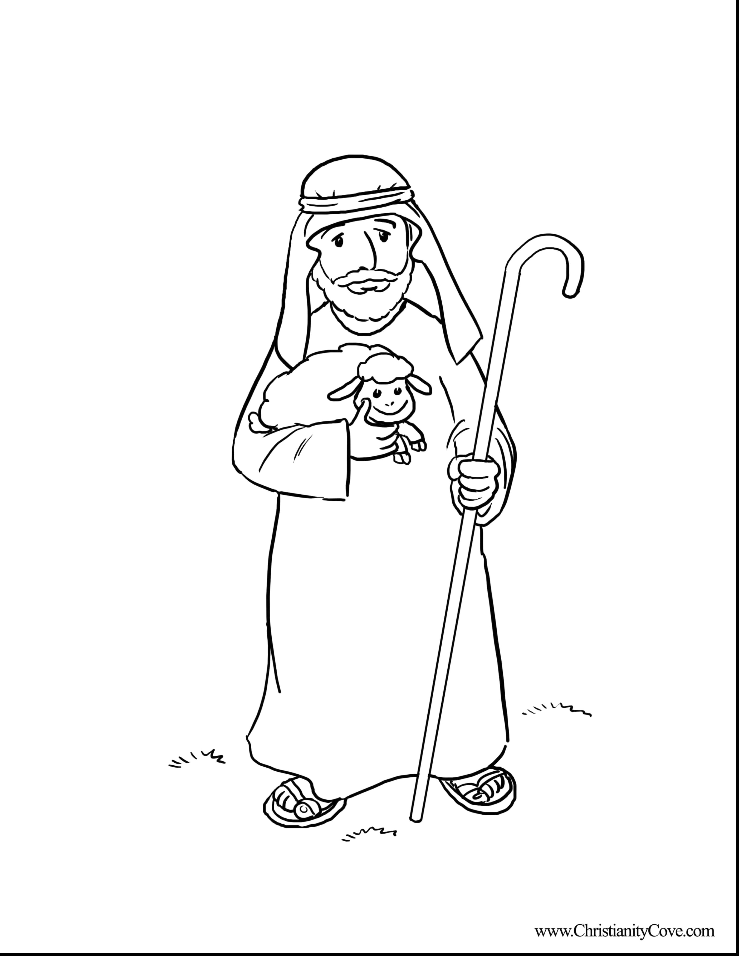 Christmas Coloring Pages Shepherds With Printable Page For Kids