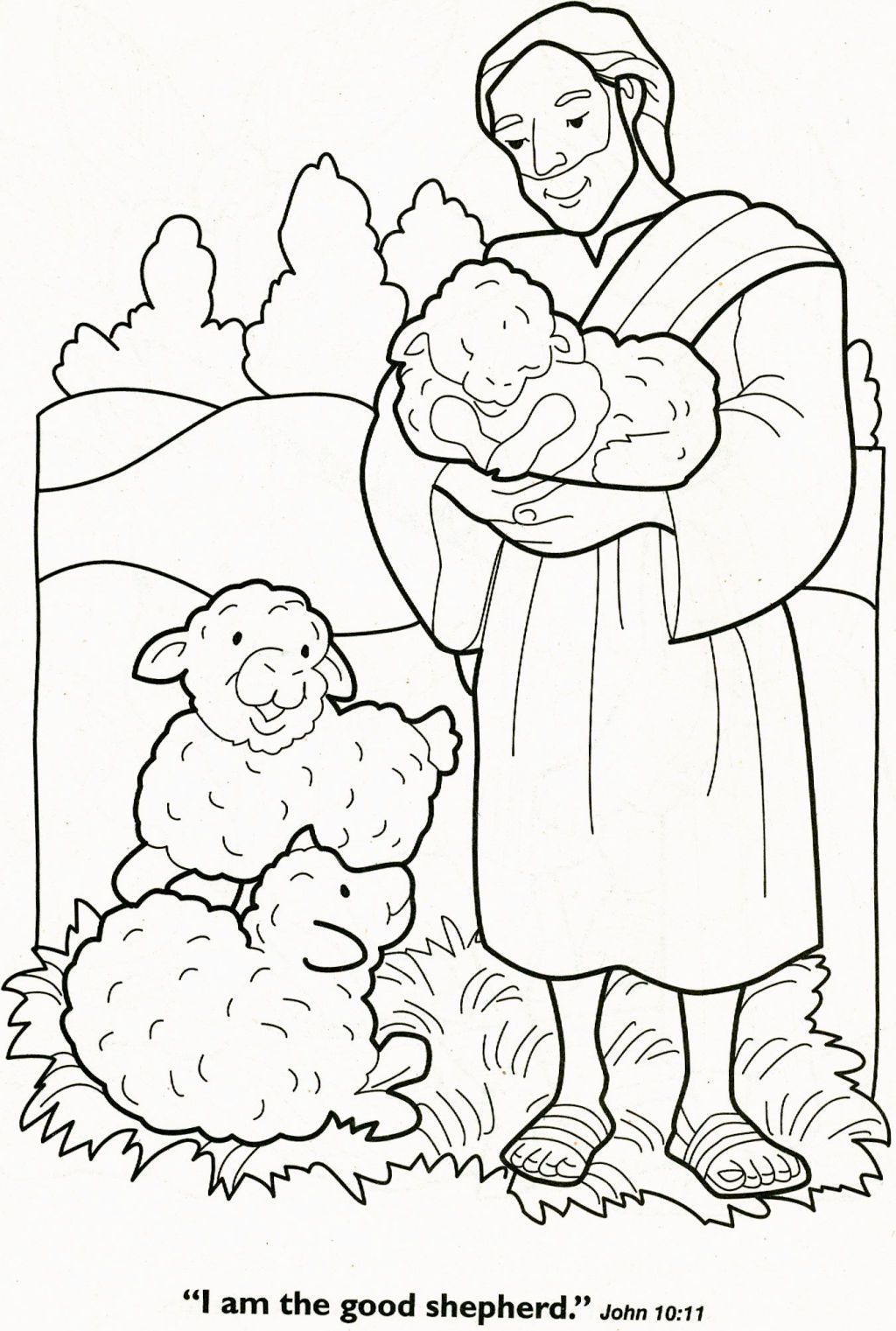 Christmas Coloring Pages Shepherds With The Lord Is My Shepherd Page Pinterest