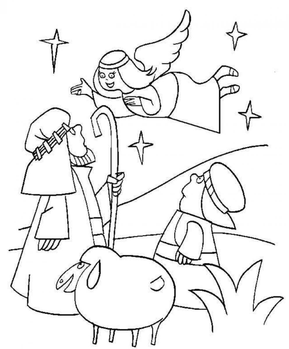 Christmas Coloring Pages Shepherds With