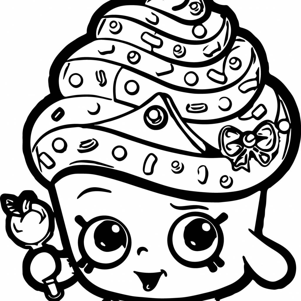 Christmas Coloring Pages Shopkins With Best Of Cupcake Queen Collection Printable