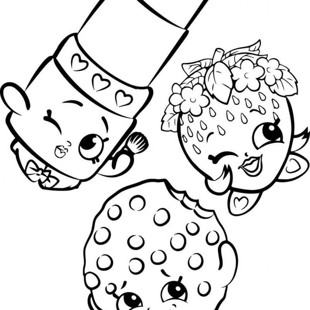 Christmas Coloring Pages Shopkins With Cartoon Pinterest