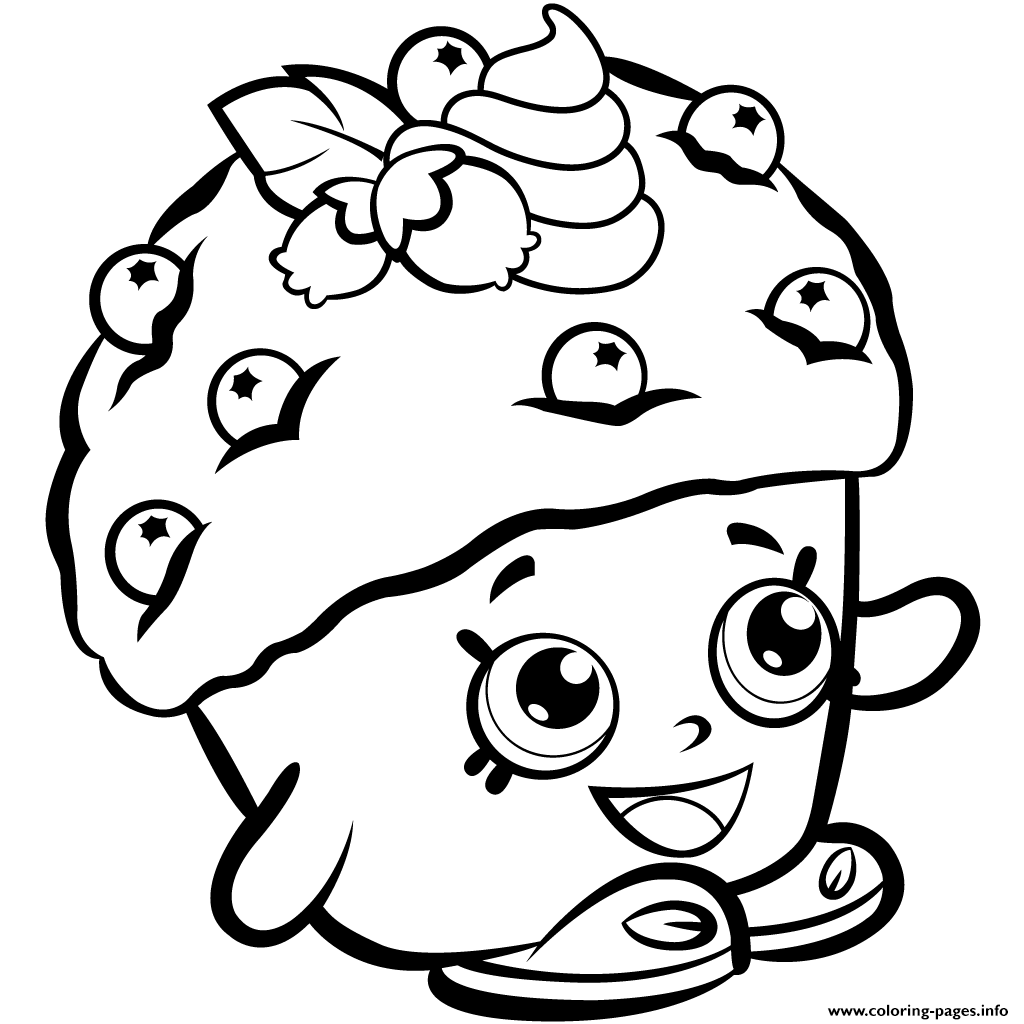 Christmas Coloring Pages Shopkins With Mini Muffin Season 1 Printable