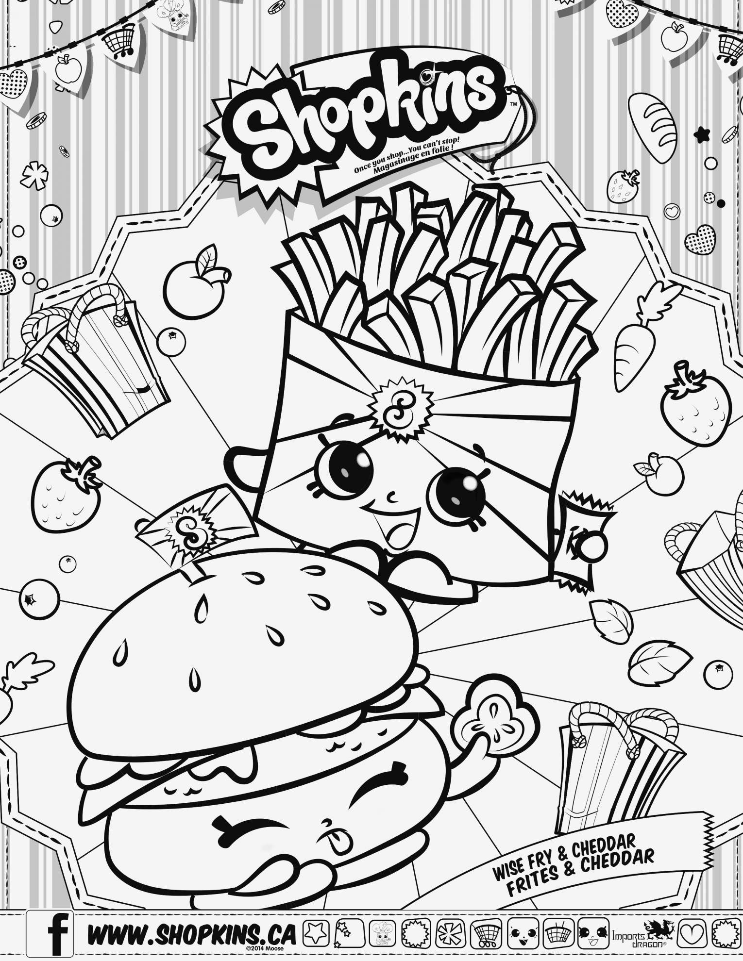 Christmas Coloring Pages Shopkins With Minnie Printable