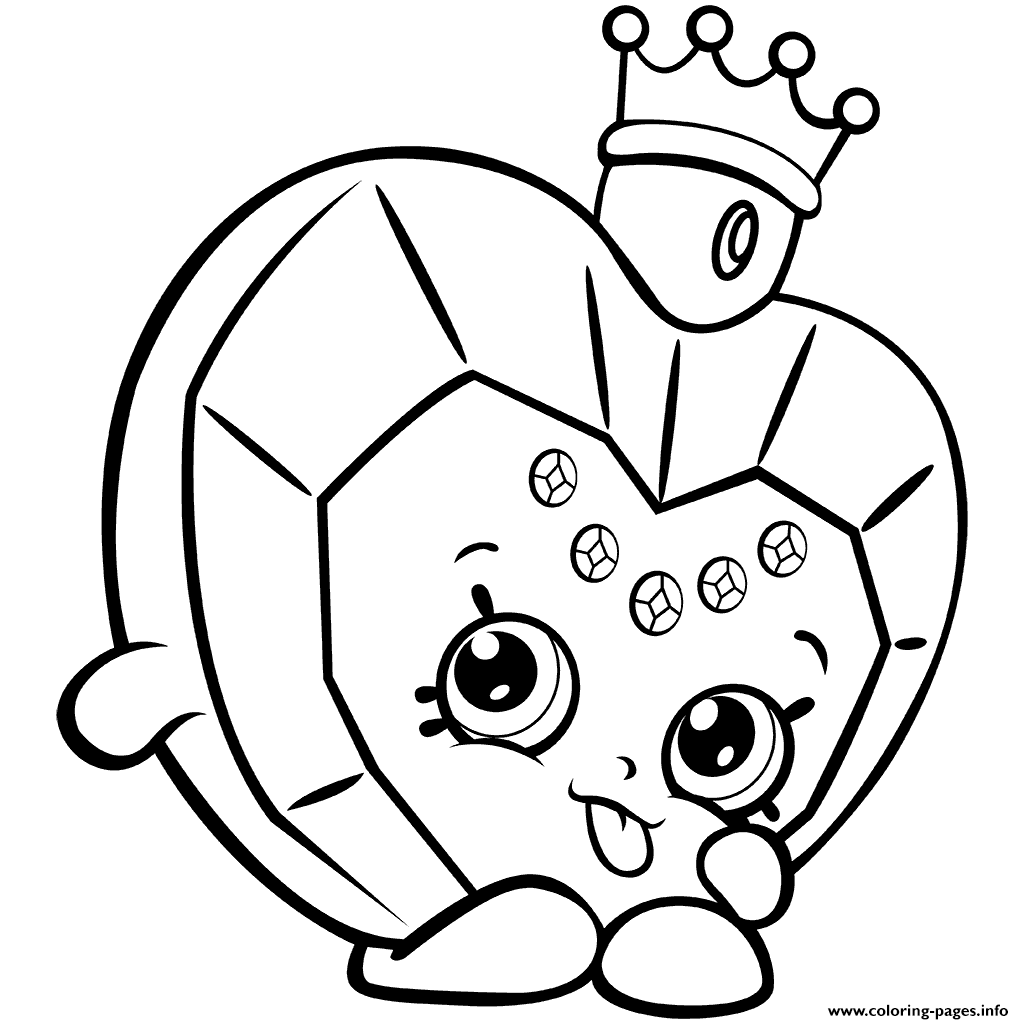 Christmas Coloring Pages Shopkins With Season 7 Perfume Big Hearted Princess Scent