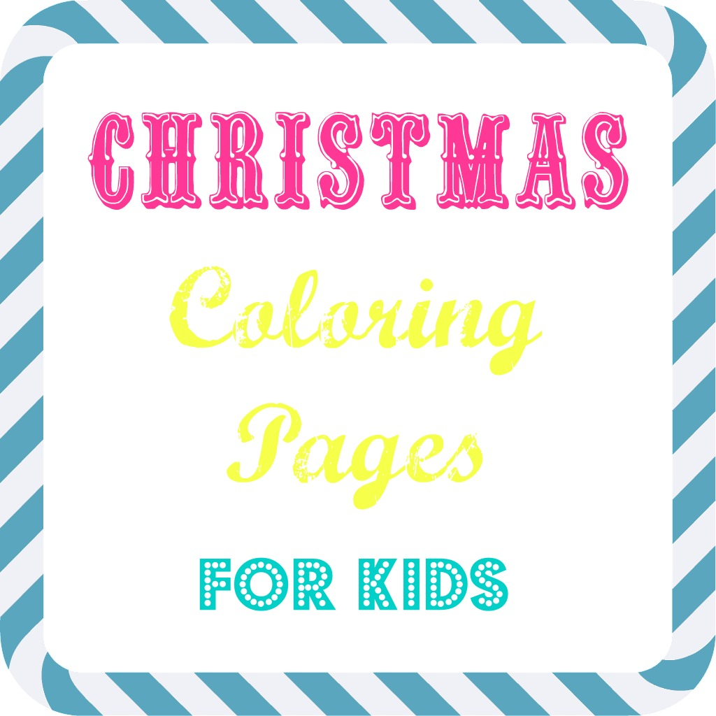 Christmas Coloring Pages Simple With Free Kids What Mommy Does