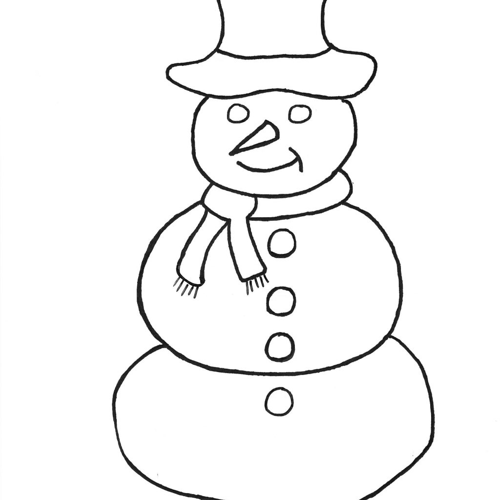 Christmas Coloring Pages Simple With Snowman Frosty The Page