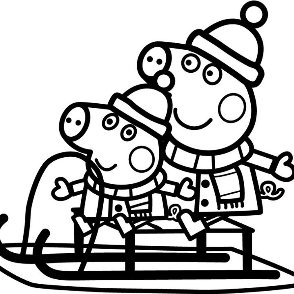christmas-coloring-pages-sleigh-with-peppa-pig-colouring-page-youtube