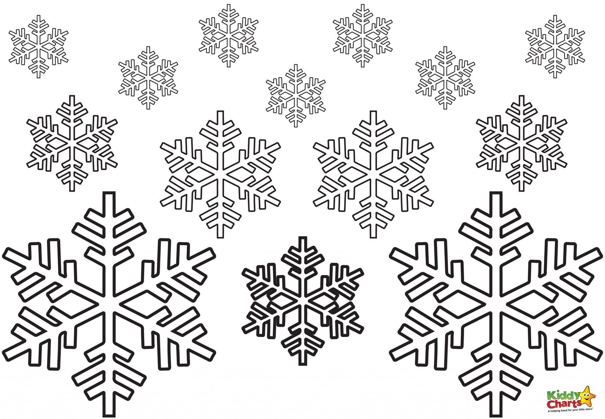 Christmas Coloring Pages Small With Snowflake