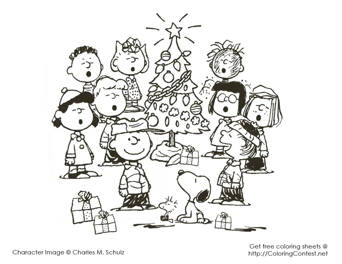 Christmas Coloring Pages Snoopy With 3 Art Pinterest Charlie Brown