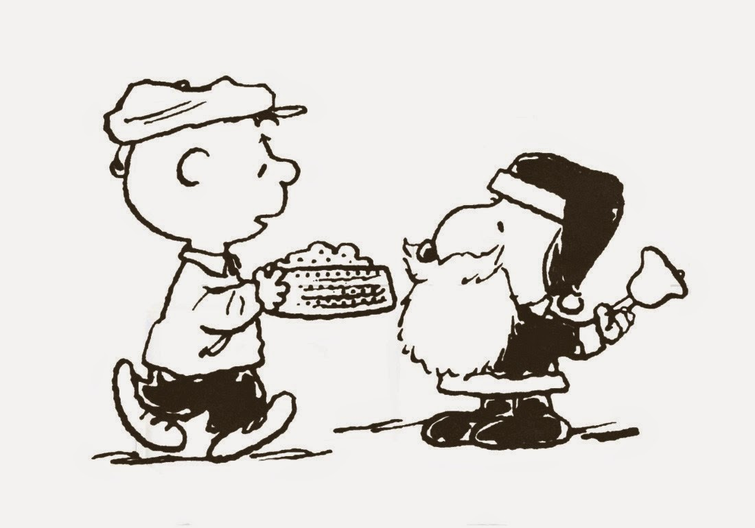 Christmas Coloring Pages Snoopy With Charlie Brown And Clip Art