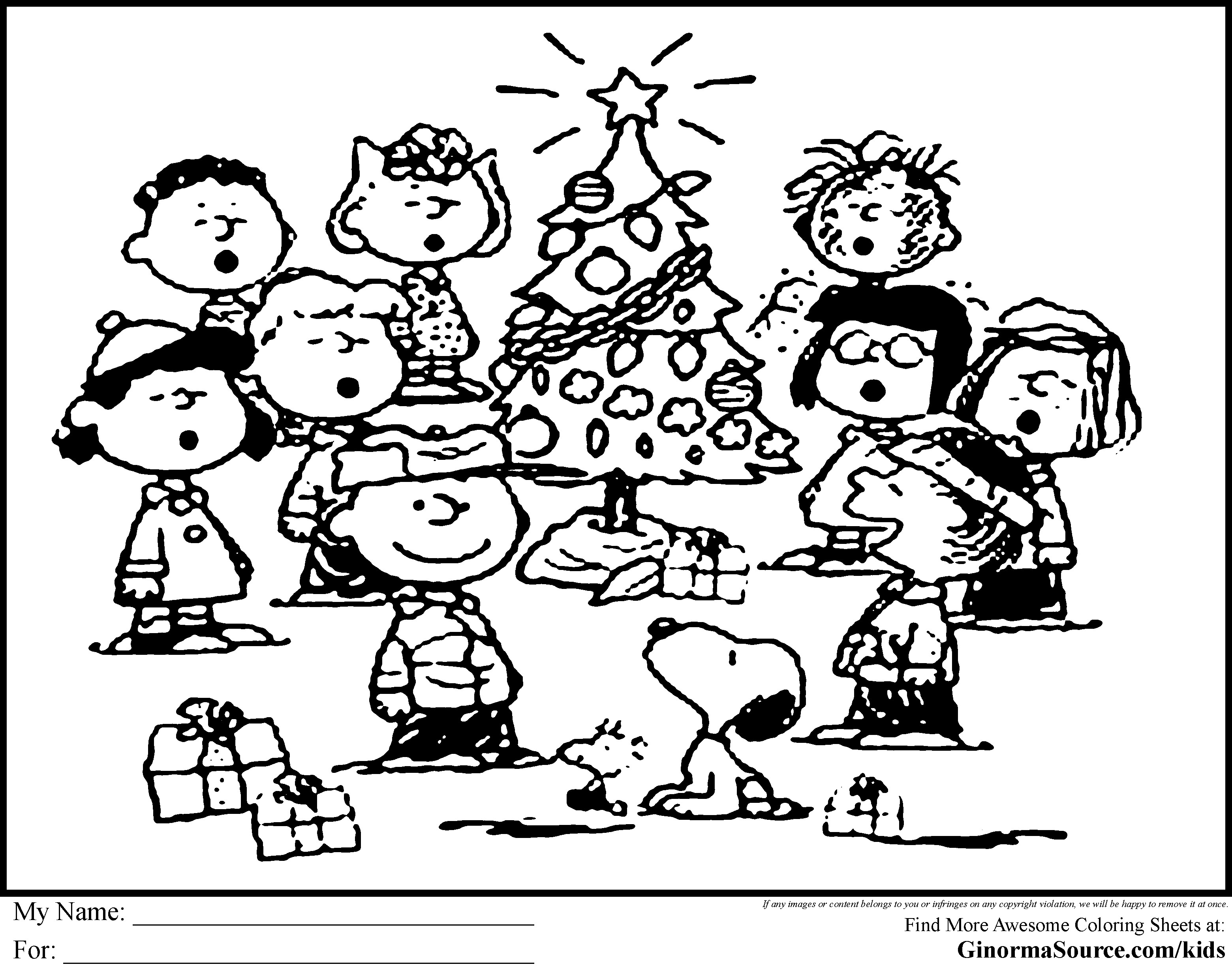 Christmas Coloring Pages Snoopy With Charlie Brown Characters Free Books