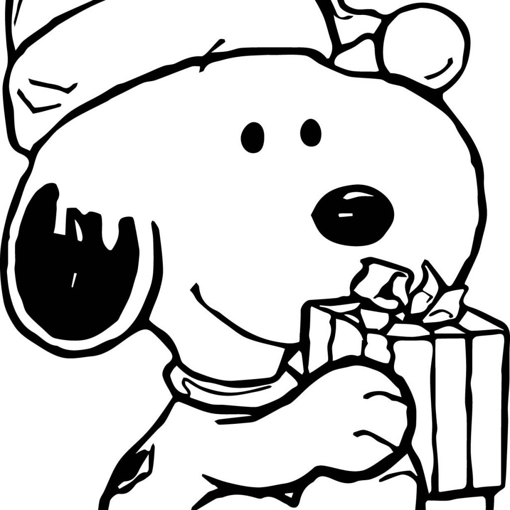 Christmas Coloring Pages Snoopy With Download Free Books