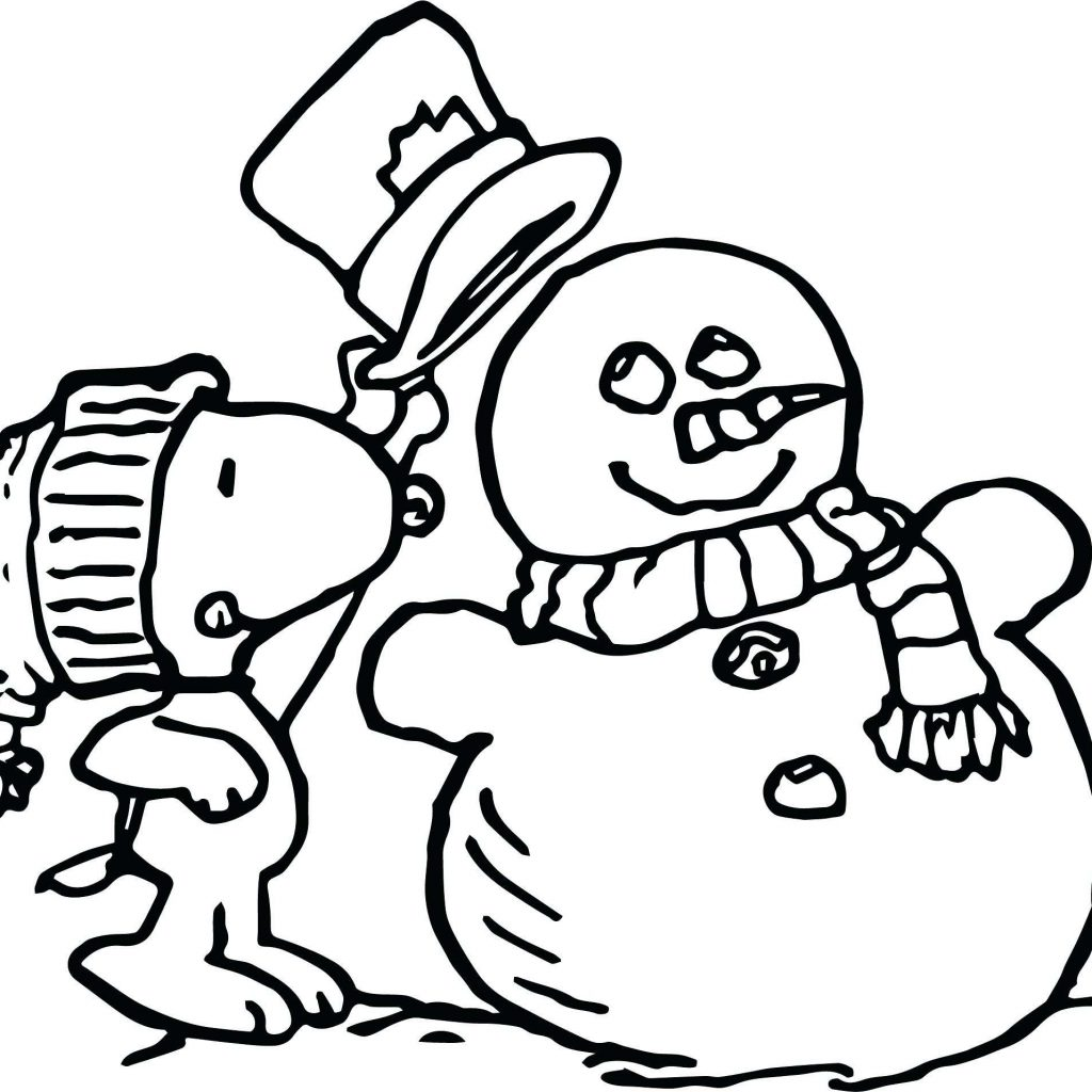 Christmas Coloring Pages Snoopy With Free Printable