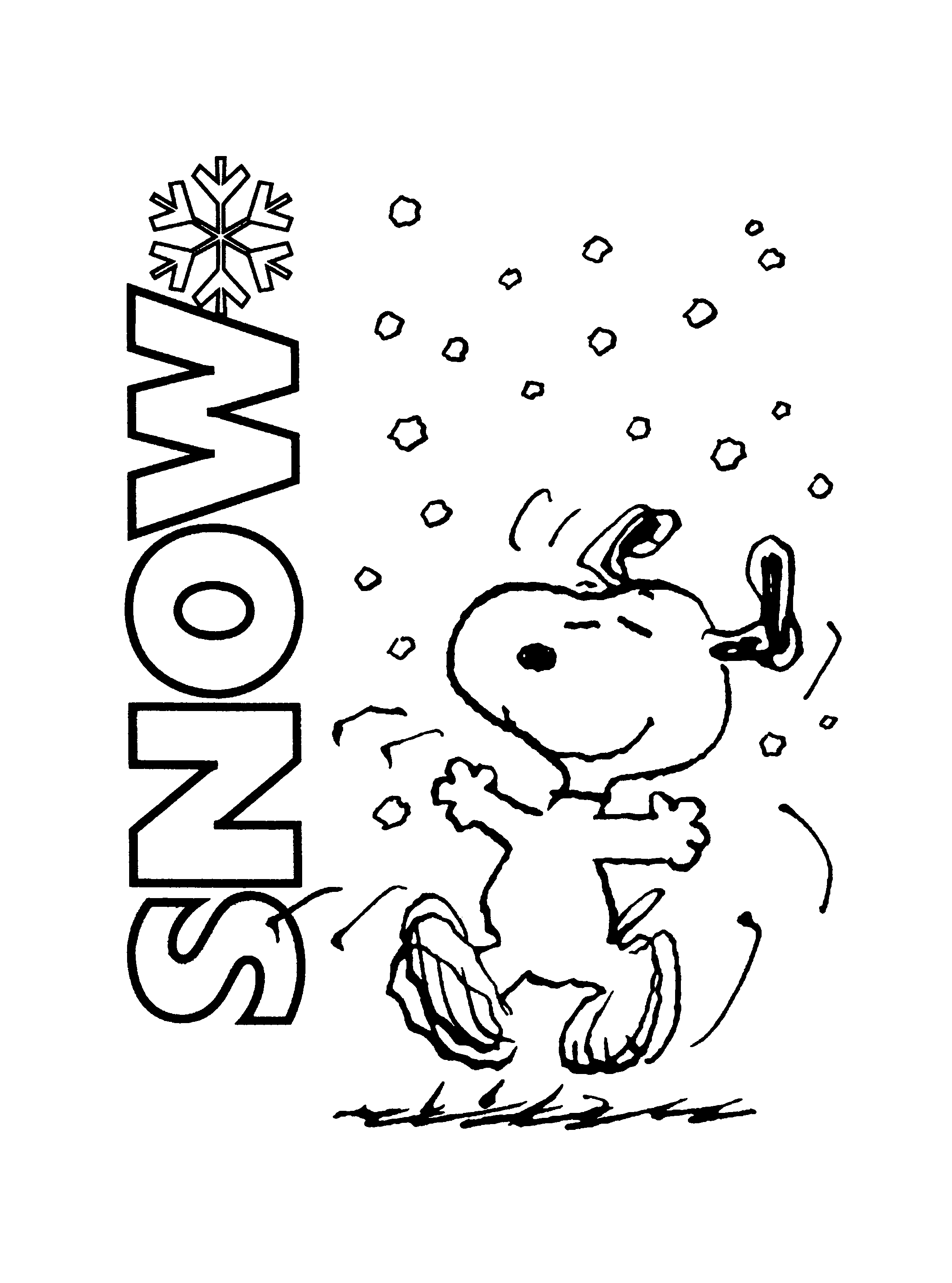 Christmas Coloring Pages Snoopy With Free Printable Charlie Brown For Kids