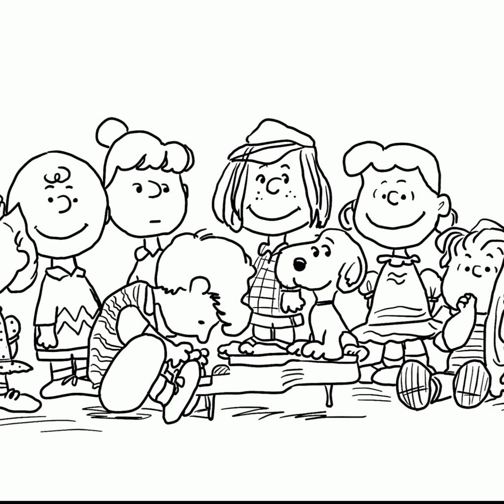 Christmas Coloring Pages Snoopy With Luxury Of Charlie Brown Gallery Printable