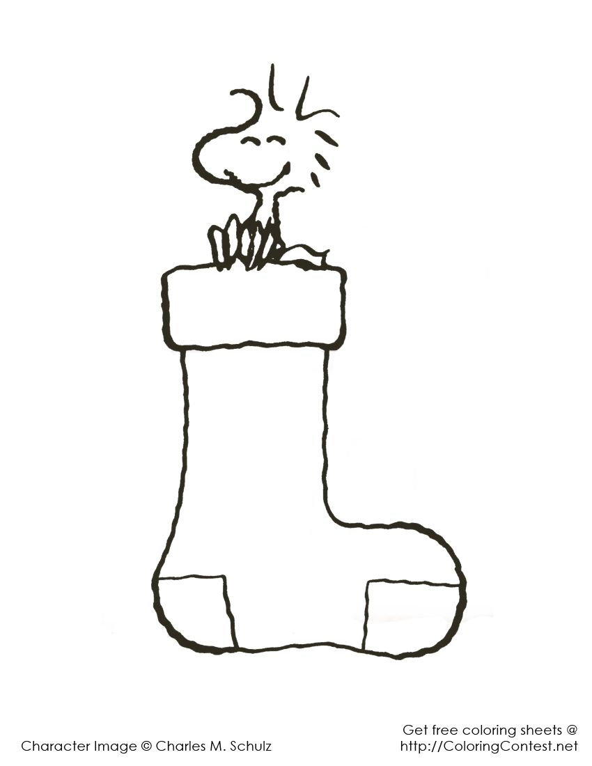 Christmas Coloring Pages Snoopy With Pinterest