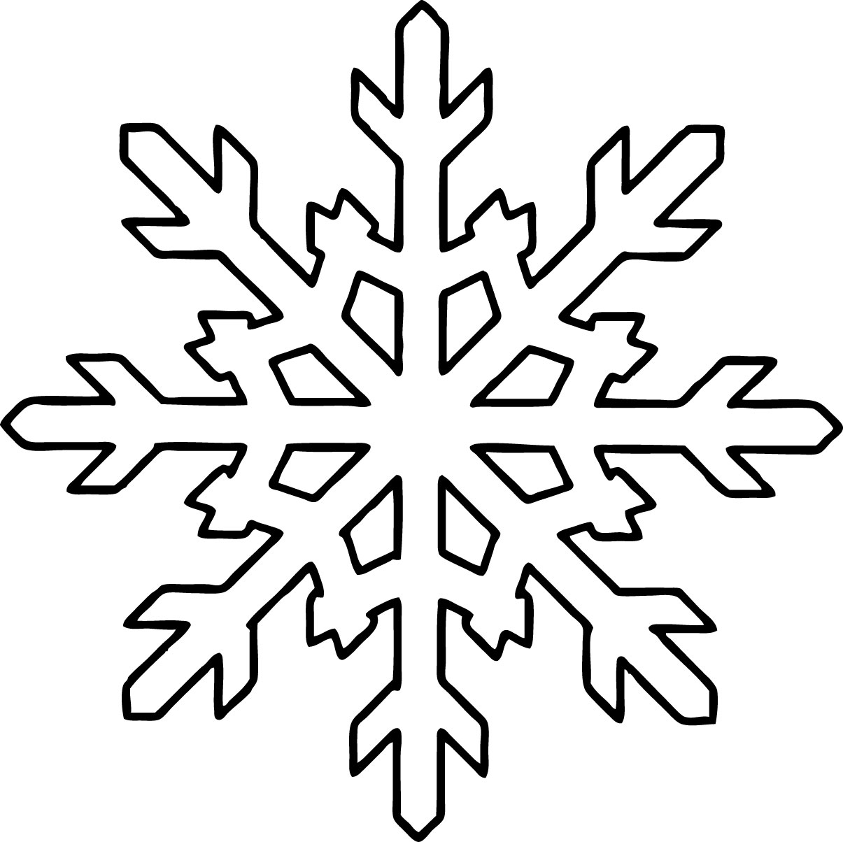 Christmas Coloring Pages Snowflakes With Free Printable Snowflake For Kids
