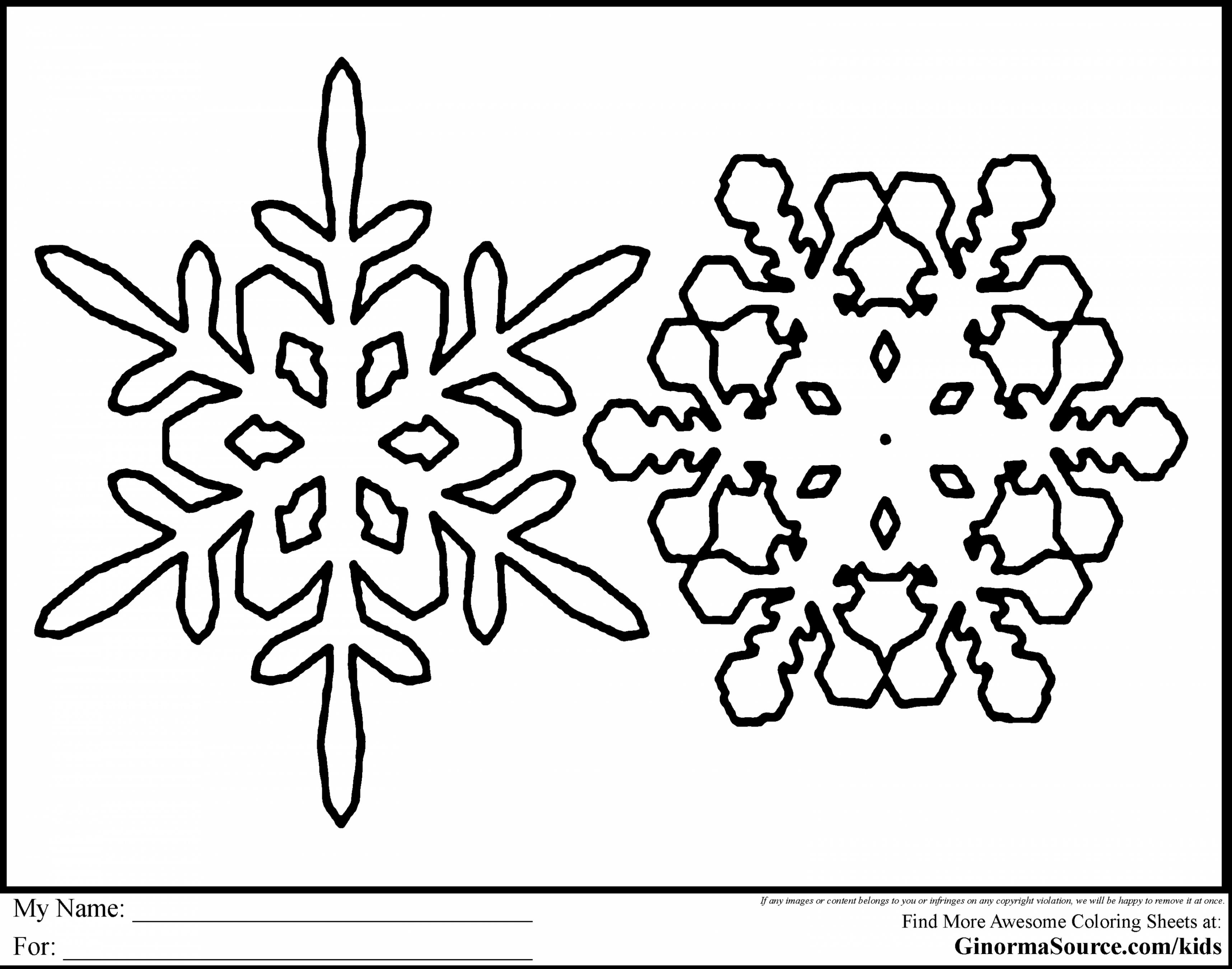Christmas Coloring Pages Snowflakes With Odd Snowflake Pictures To Print Free Create