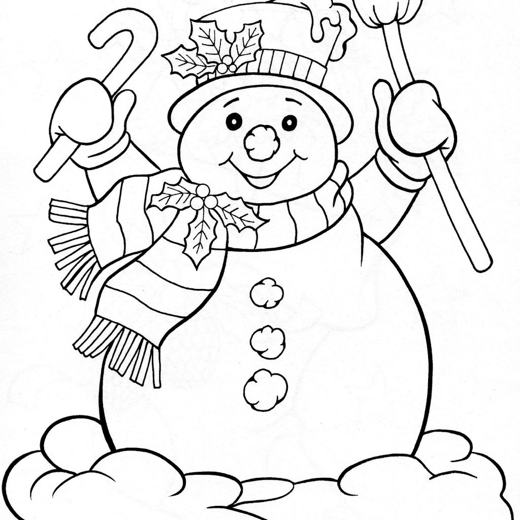 Christmas Coloring Pages Snowman With Books Worth Reading Pinterest