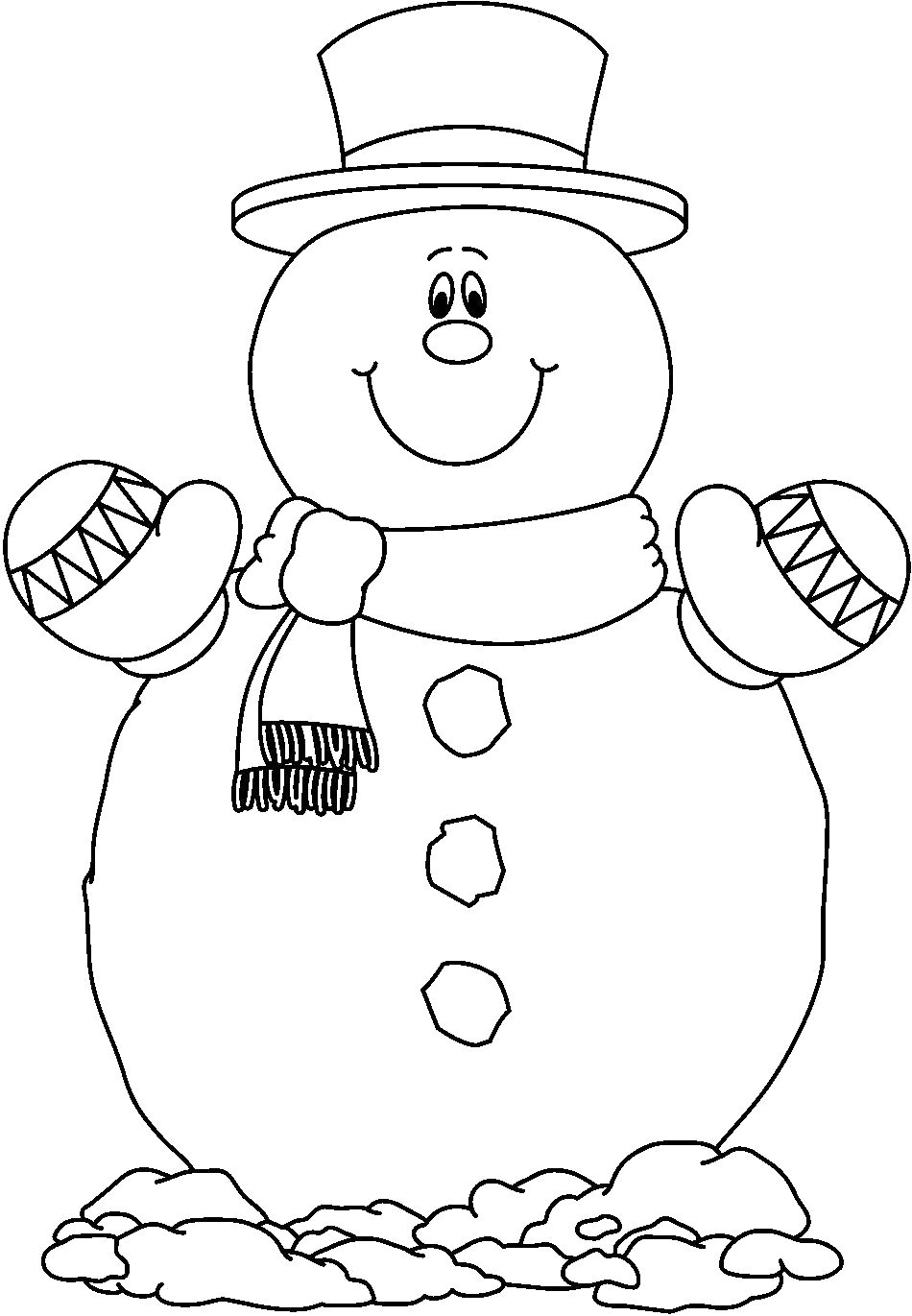 Christmas Coloring Pages Snowman With Compromise Pictures Of Snowmen To Color Rare