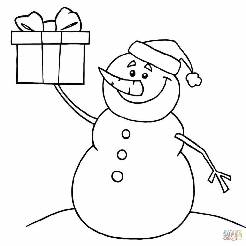 Christmas Coloring Pages Snowman With Free