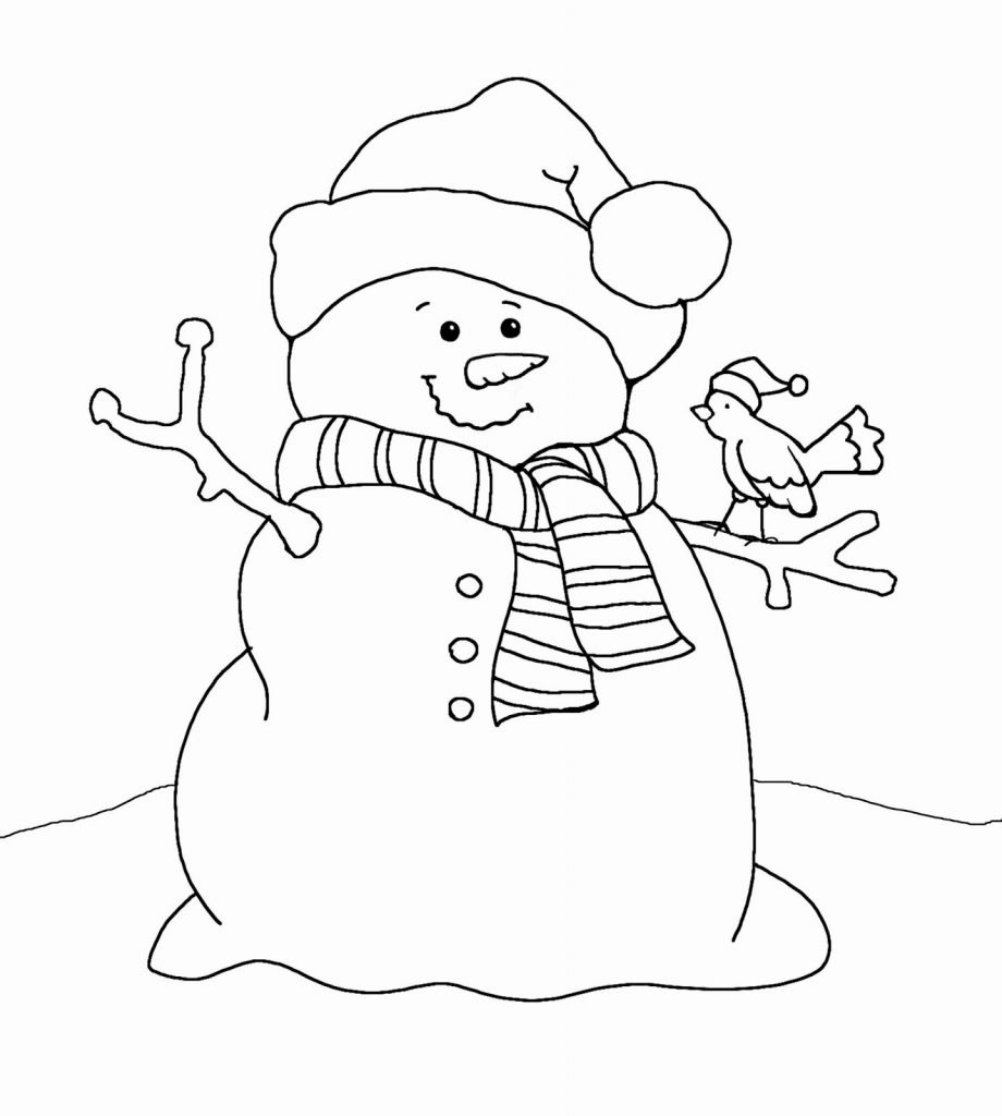 Christmas Coloring Pages Snowman With Free Snowmen Ruva