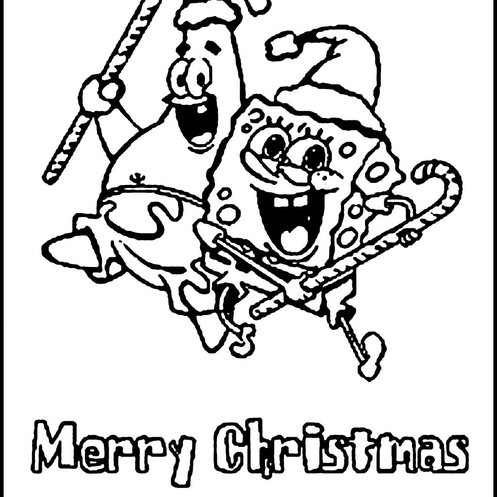 Christmas Coloring Pages Spongebob With Squarepants Archives Codraw Co