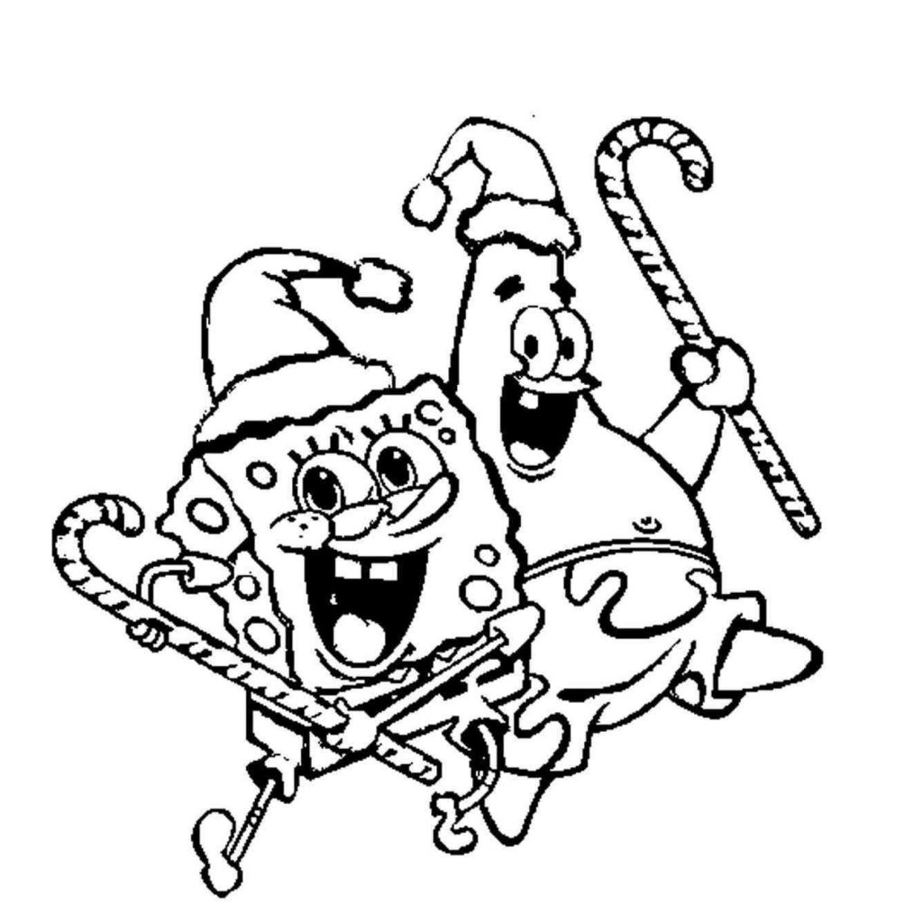 Christmas Coloring Pages Spongebob With Squarepants New Post And Patrick