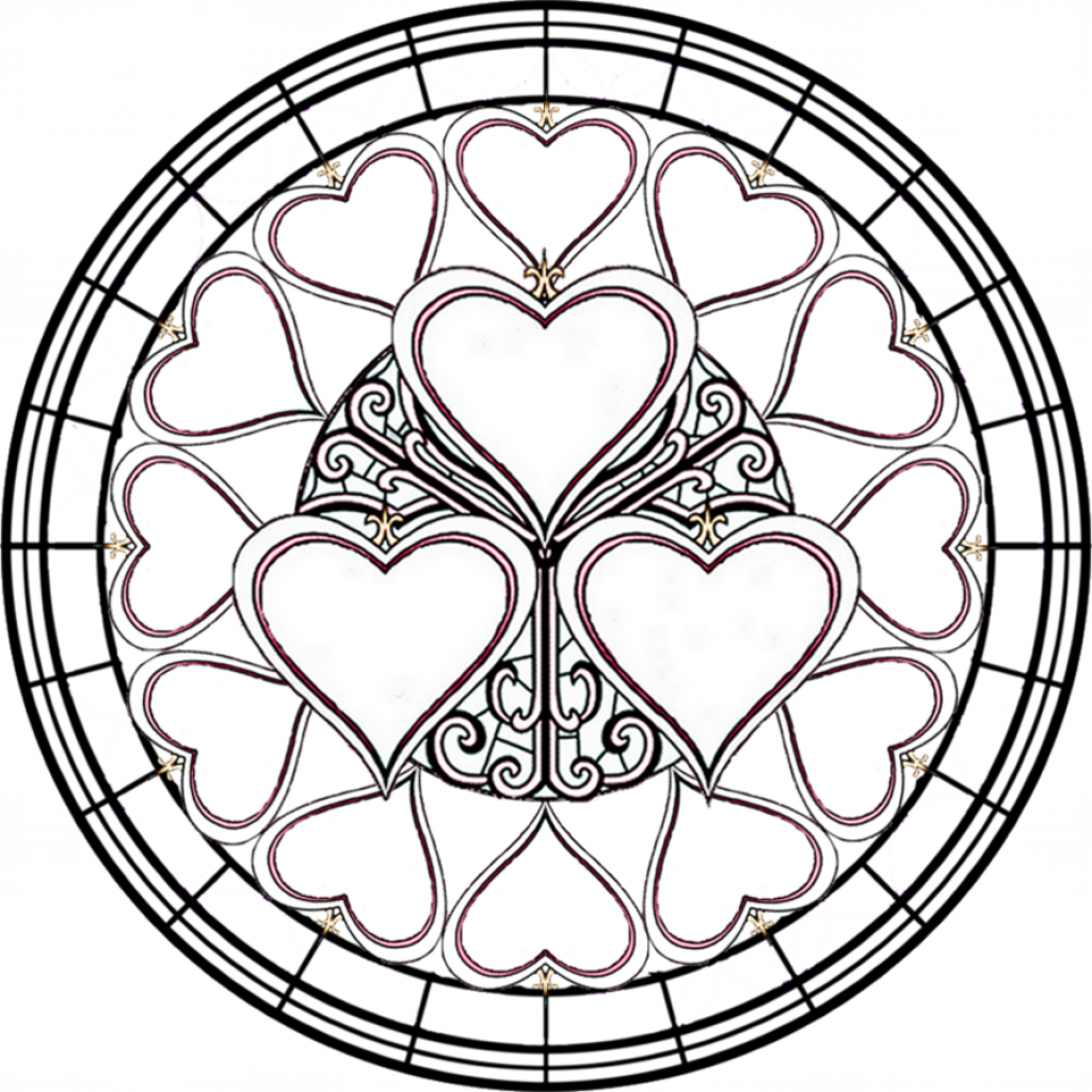 Christmas Coloring Pages Stained Glass With Crosses Google Search Line Drawings