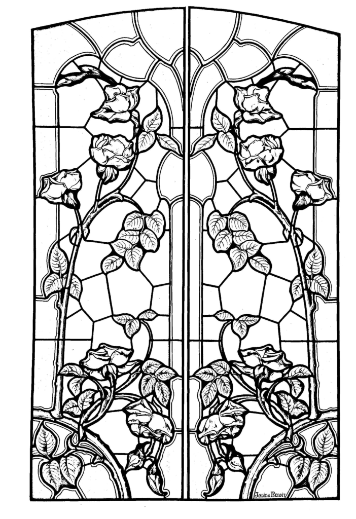 Christmas Coloring Pages Stained Glass With Mr Willowby S Tree New Sally Nightmare