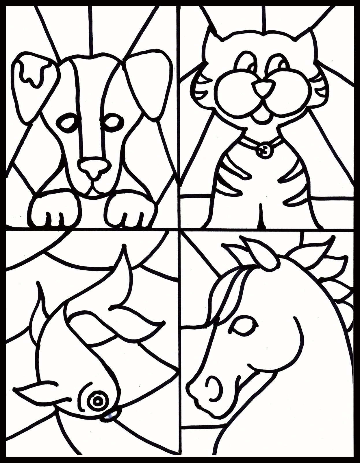 Christmas Coloring Pages Stained Glass With New 35 Lovely
