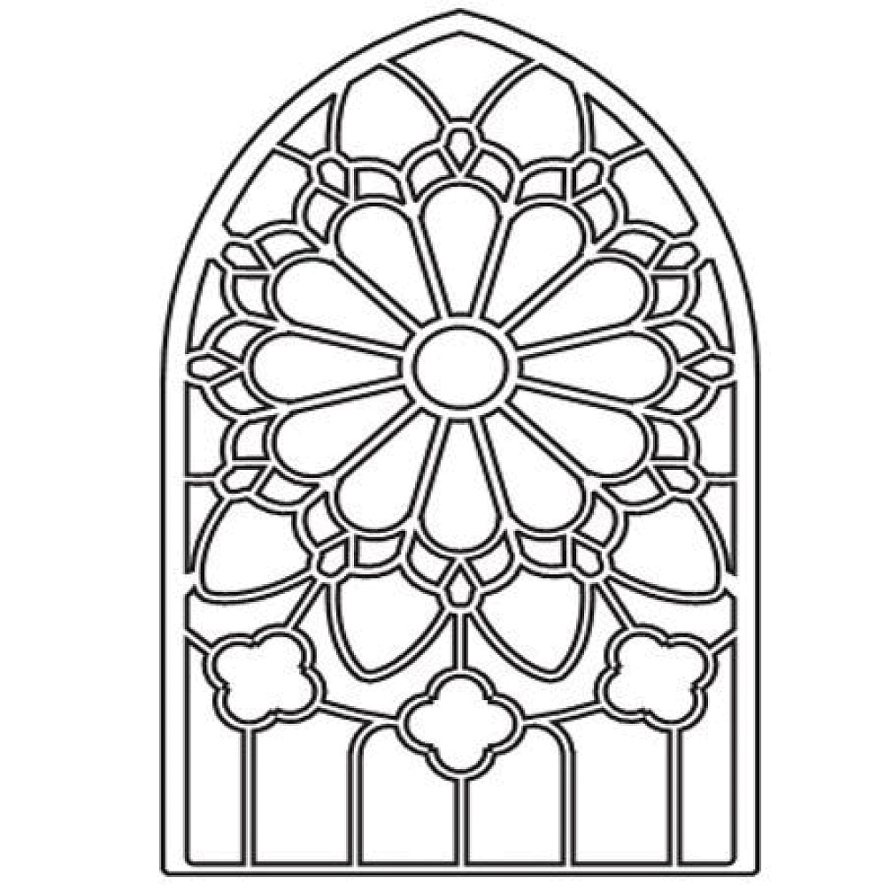 Christmas Coloring Pages Stained Glass With Pictures To Color 2714743