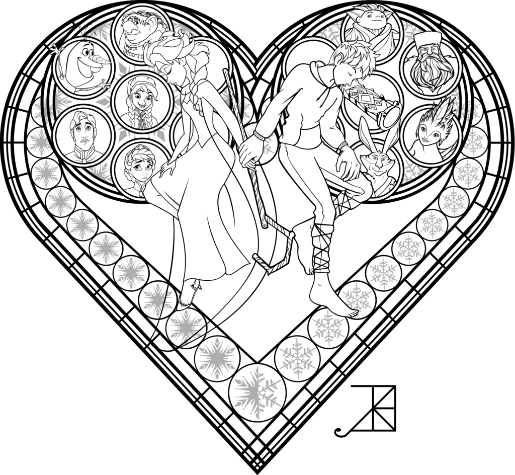 Christmas Coloring Pages Stained Glass With Printable Window Page Home