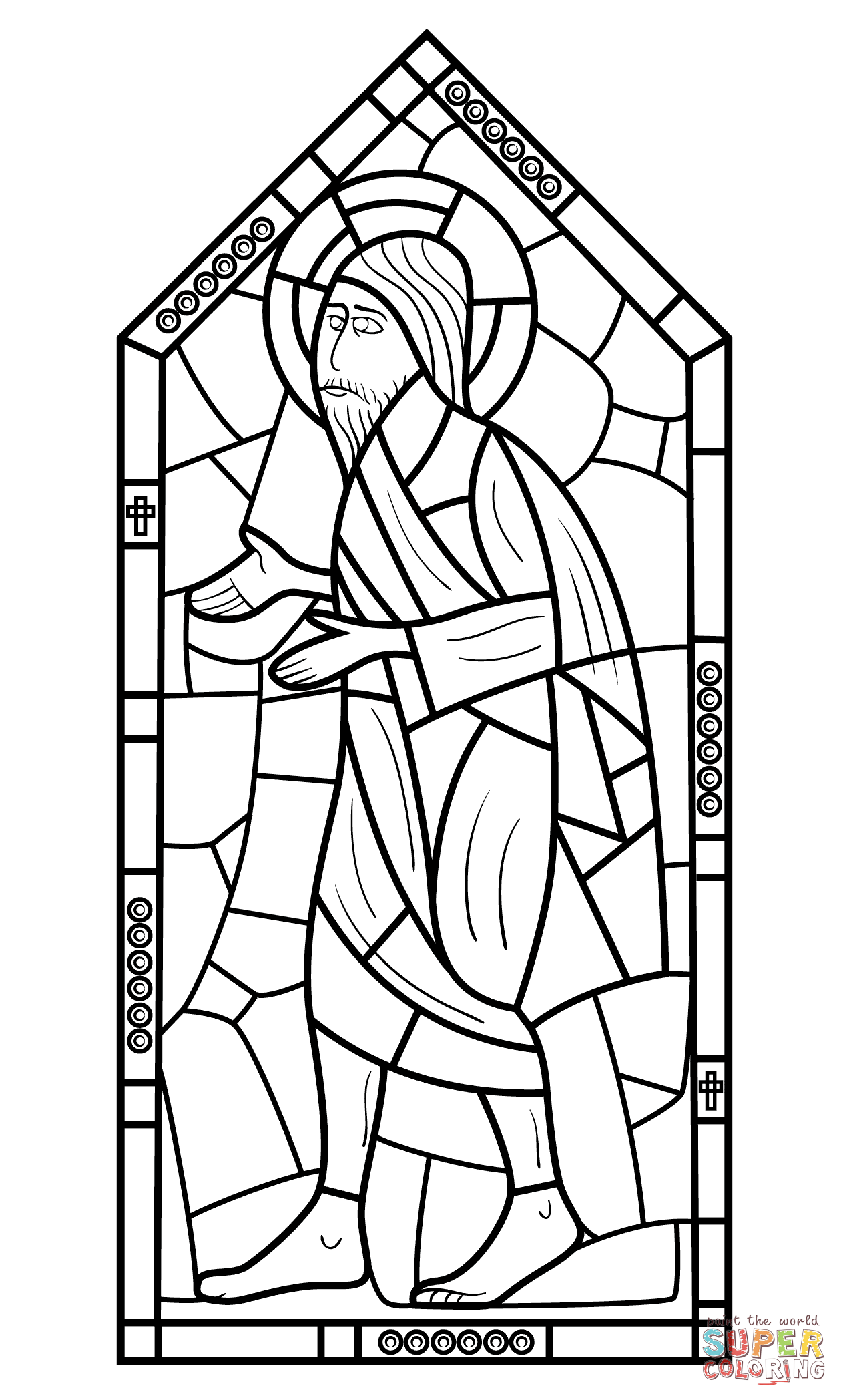 Christmas Coloring Pages Stained Glass With Religious Page Free Printable Best Of