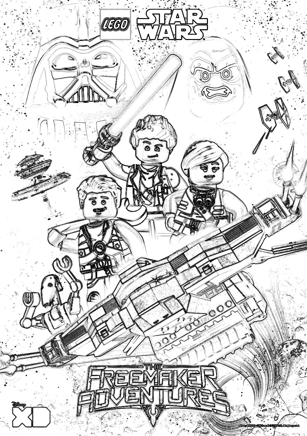 Christmas Coloring Pages Star Wars With Lego Clone Page Free Printable 11