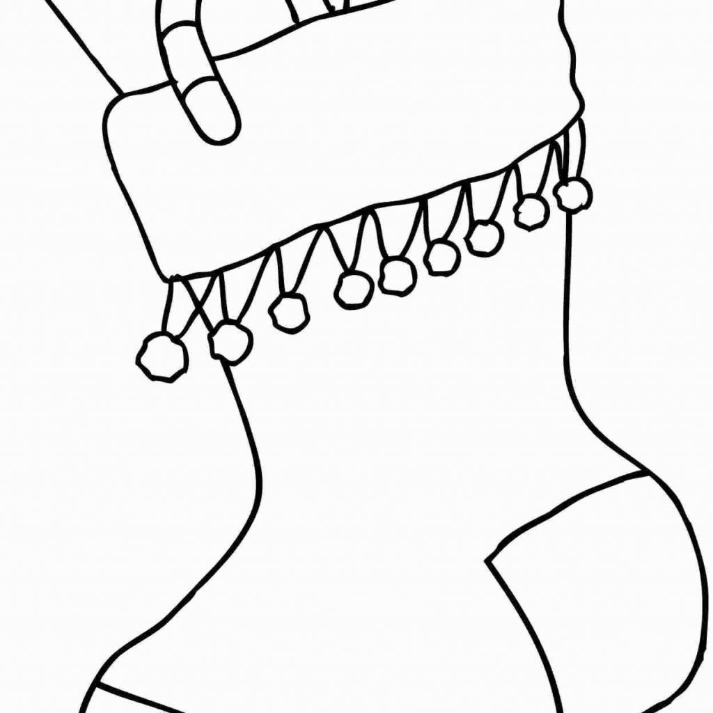 Christmas Coloring Pages Stocking With Clipart Black And White Fresh Ornament