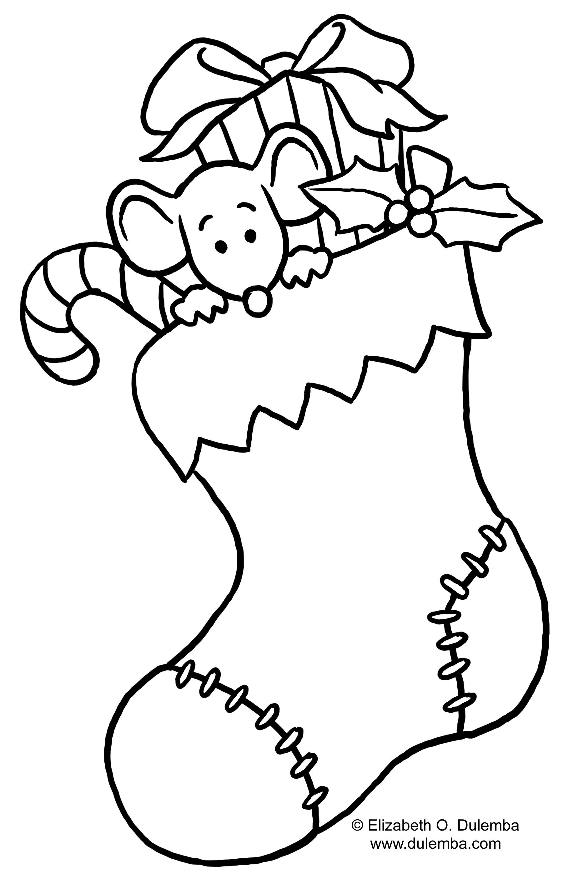 Christmas Coloring Pages Stocking With Http Www Justcoloring Com Images 13 Jpg