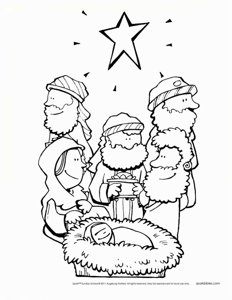 Christmas Coloring Pages Sunday School With Elementary Valid Page