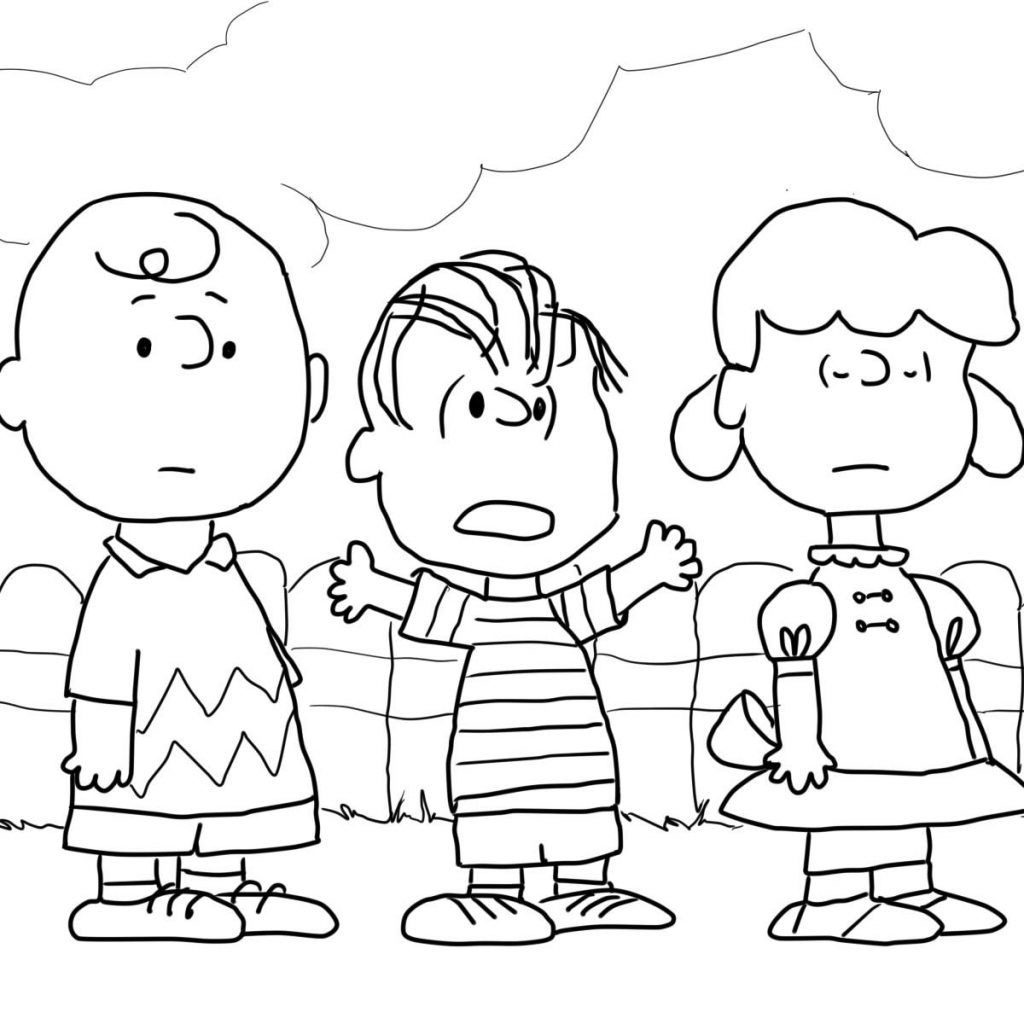 Christmas Coloring Pages Supercoloring With Charlie Brown Lucy And Linus Page SuperColoring Com