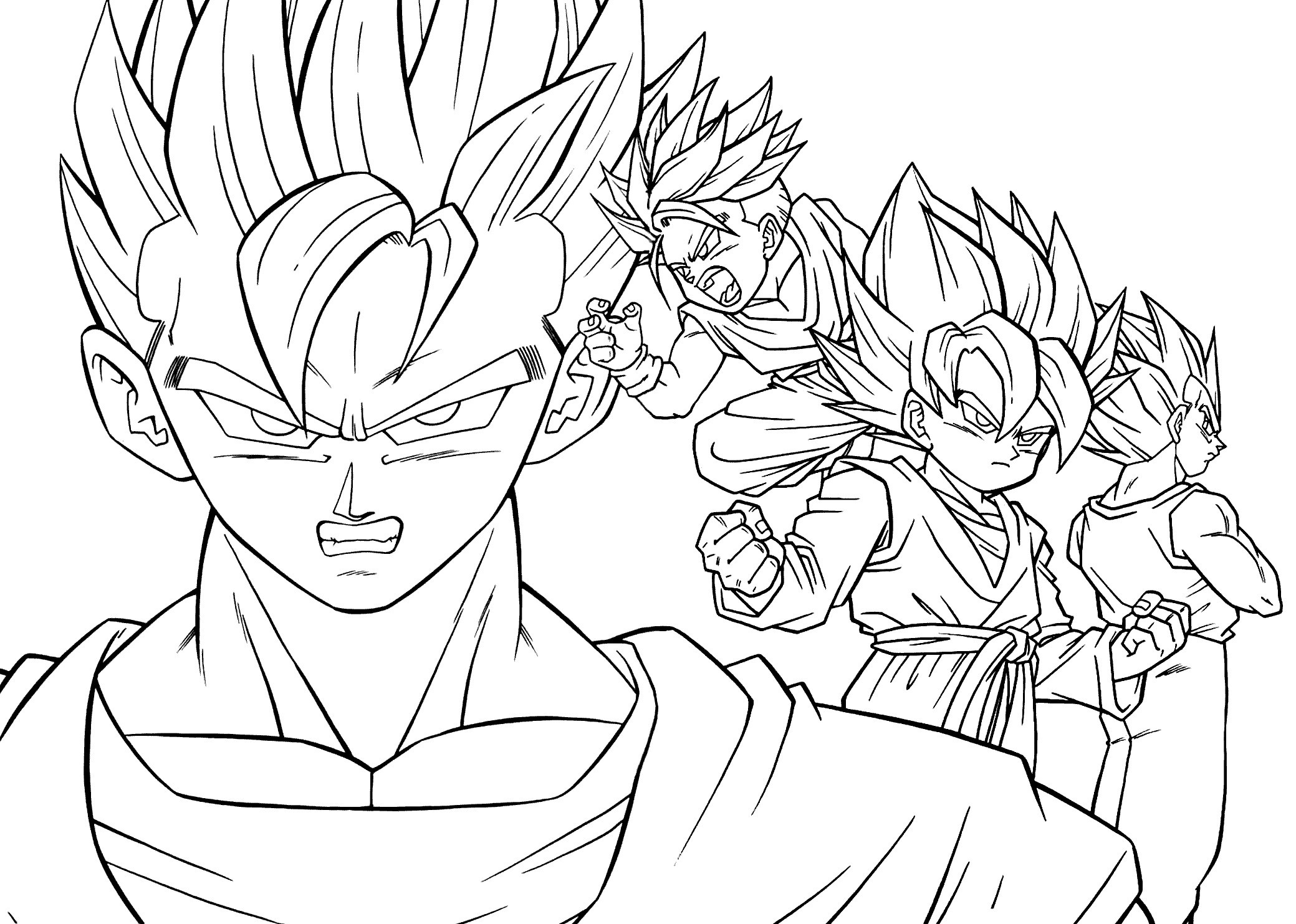 Christmas Coloring Pages Supercoloring With Dragon Ball Z Save Super