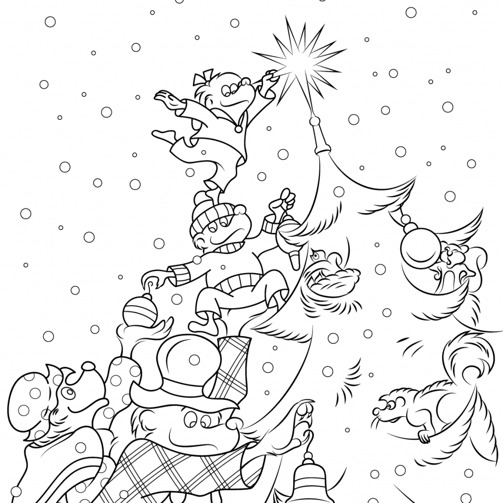 Christmas Coloring Pages Supercoloring With The Berenstain Bears Tree Page Free Printable