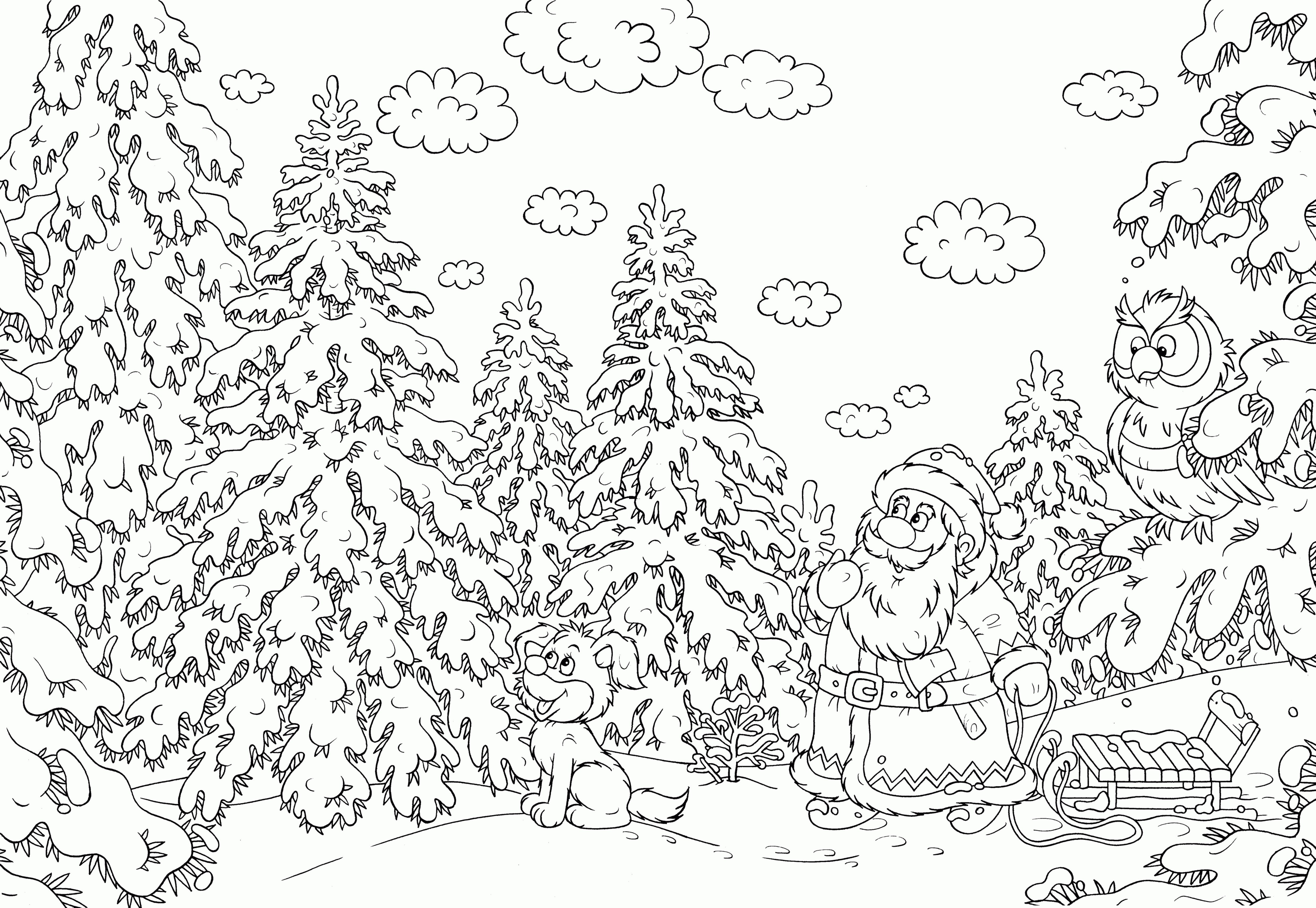 Christmas Coloring Pages That Are Hard With Save Awesome