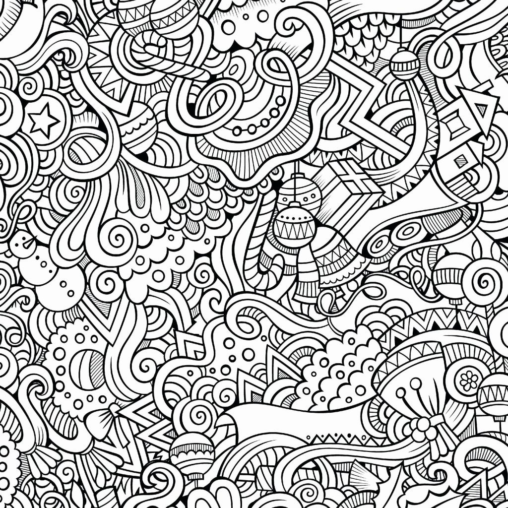 Christmas Coloring Pages That Are Hard With Sheets New Difficult