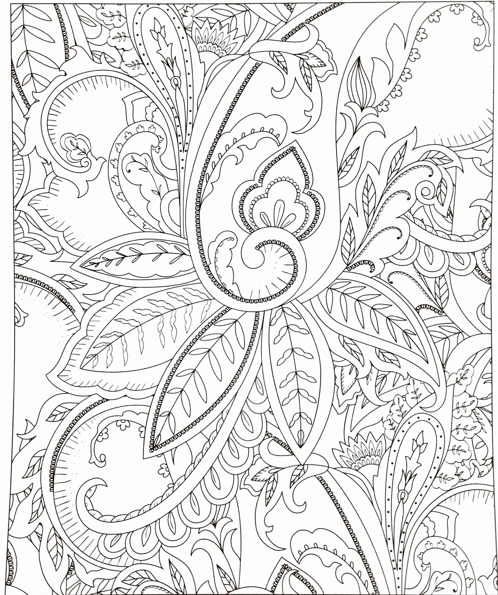 Christmas Coloring Pages That Are Hard With Tree Page Printable