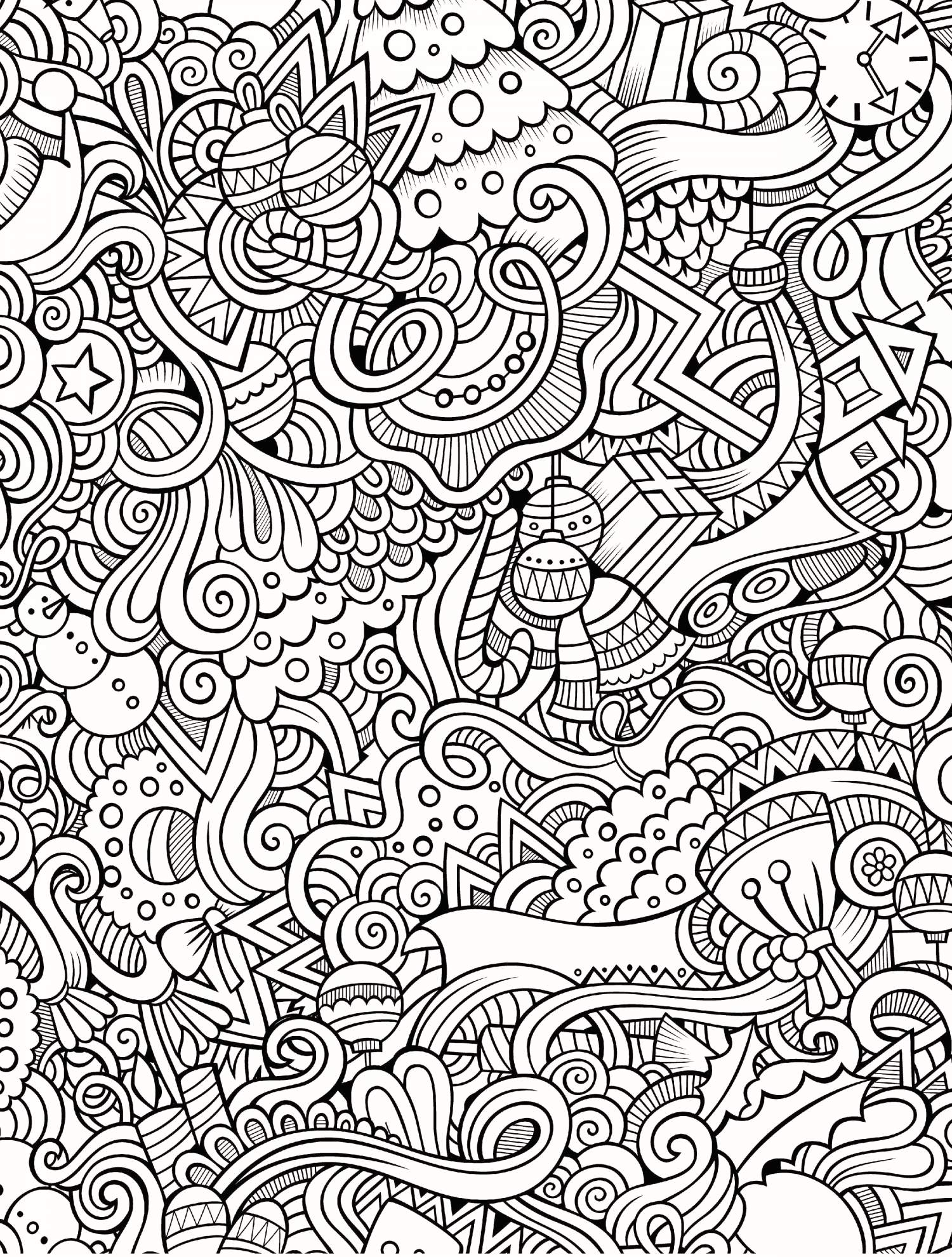 Christmas Coloring Pages That Are Printable With Free Scooby Doo