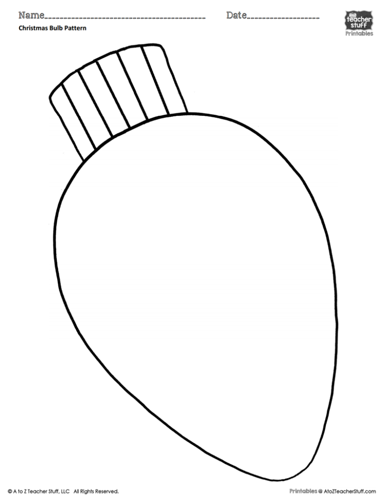 Christmas Coloring Pages That You Can Print With Bulb Pattern Or Sheet A To Z Teacher