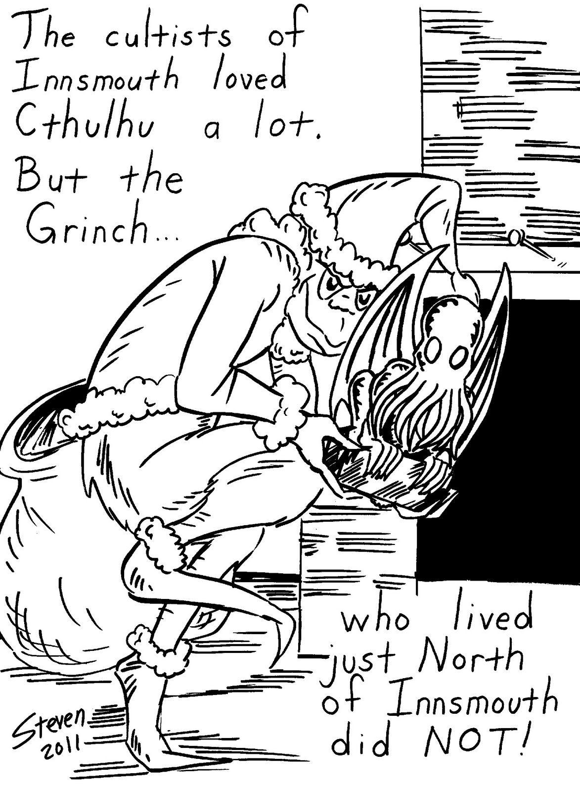 Christmas Coloring Pages The Grinch With 2751411