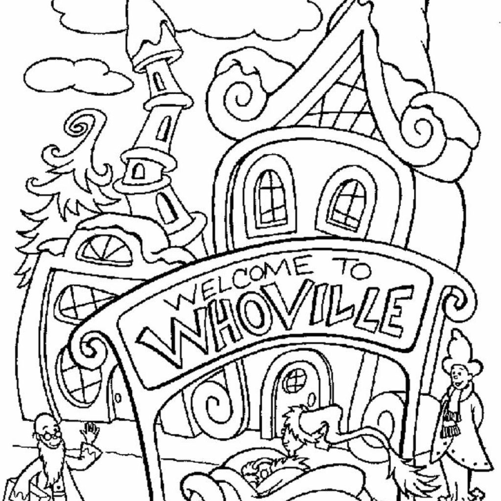 Christmas Coloring Pages The Grinch With HOW THE GRINCH STOLE CHRISTMAS Whoville